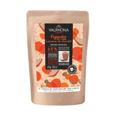 Copeaux de chocolat noir Nyangbo 68% - 250gr