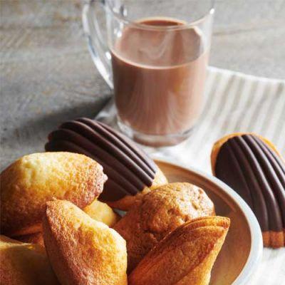 Madeleines citron chocolat