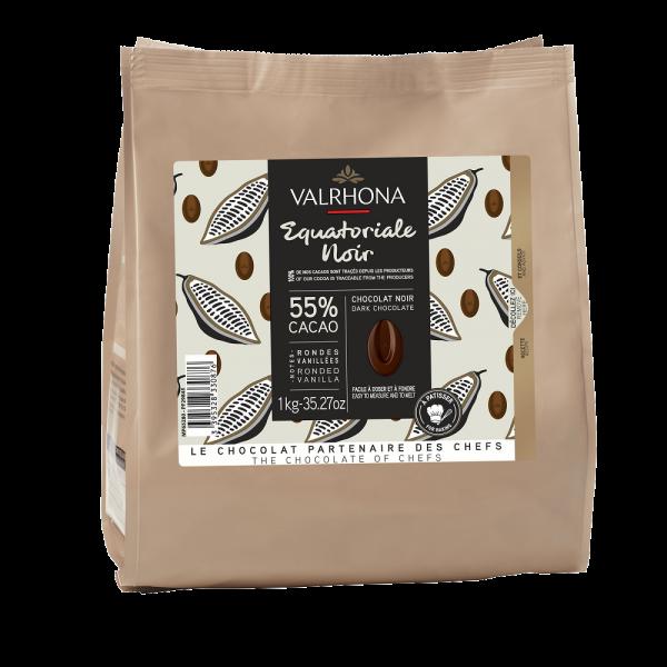 Chocolat noir Equatoriale 55% - 1kg