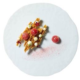 Photo dessert assiette Matthieu Robin valrhona ensemble