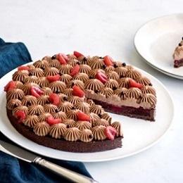 tarte chocolat framboise empreinte sucree