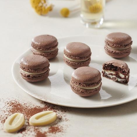 Recette de Macaron yuzu coque cacao